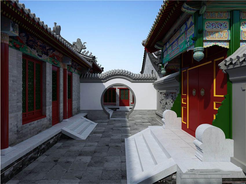 北京空中四合院设计中式风格