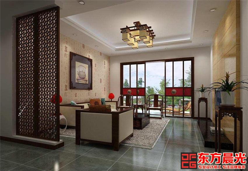 现代中式风格四合院别墅设计