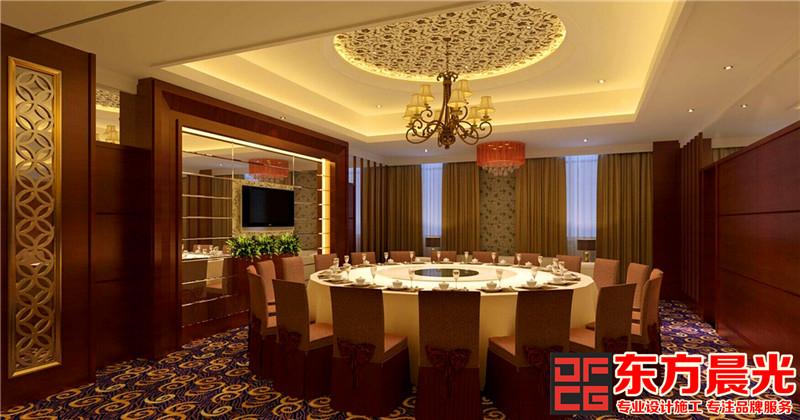 高级餐厅的中式设计