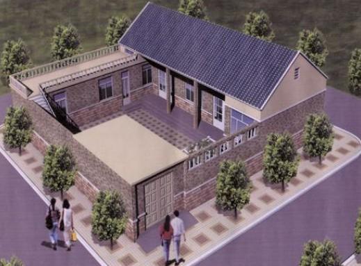 农村平房四合院设计