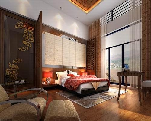 四合院卧室家装效果 中式的含蓄氛围
