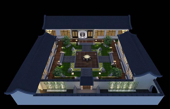 四合院建筑设计的内部结构
