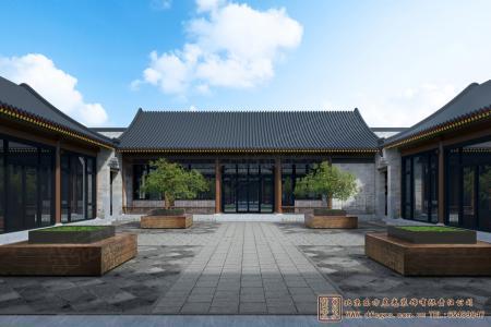 山东青岛空中四合院设计施工项目
