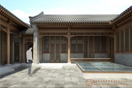 湖北武汉鹏程空中四合院设计施工项目