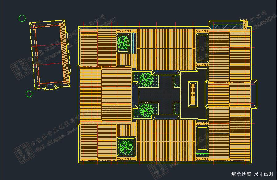 四合院屋顶平面图
