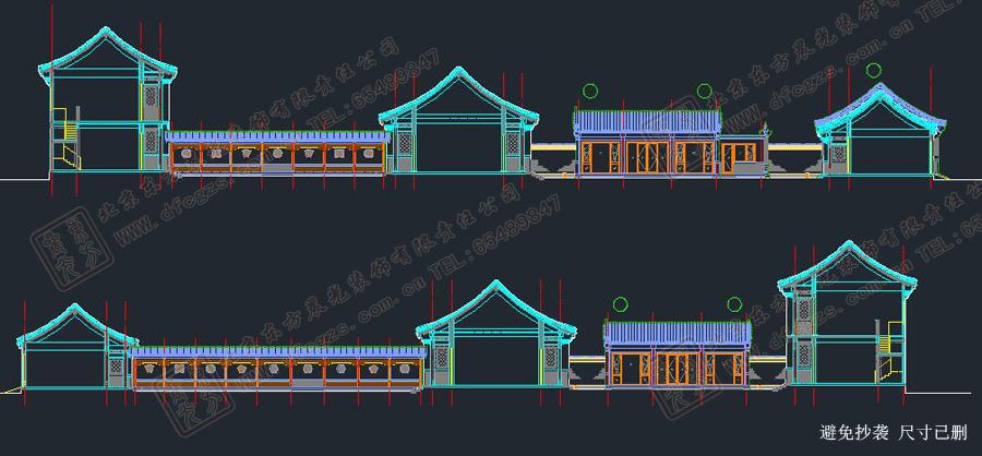 四合院侧面设计图