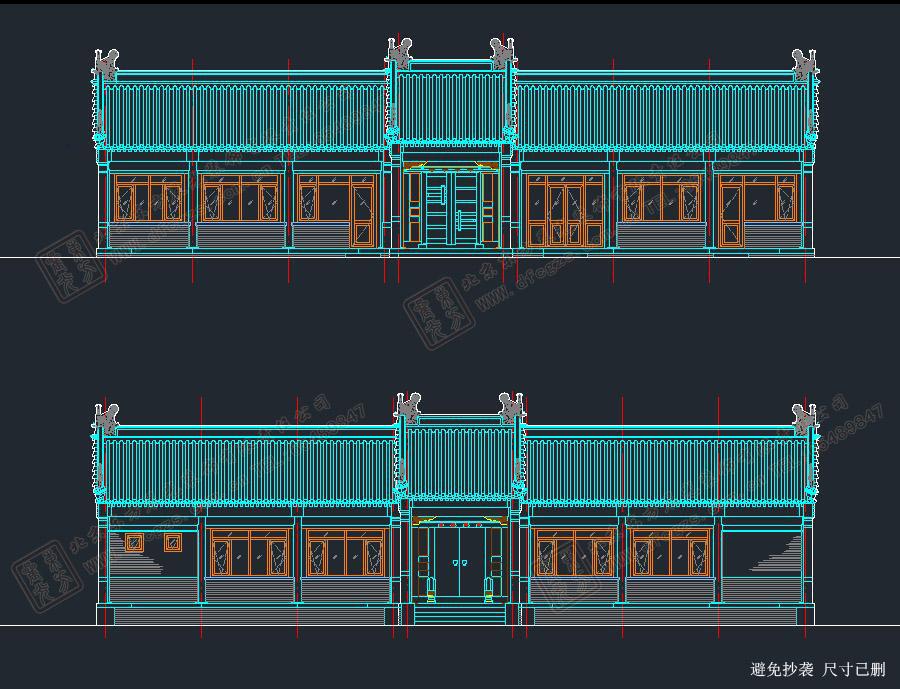 四合院大门设计图