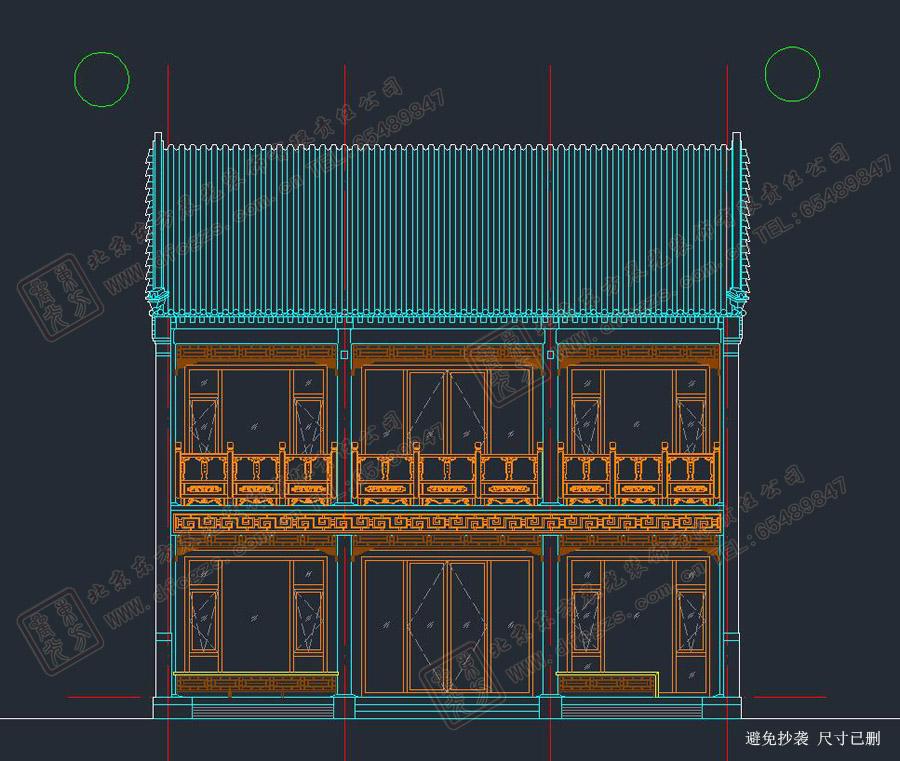 四合院正房设计图