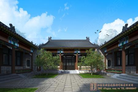 山东临沂四合院设计施工项目