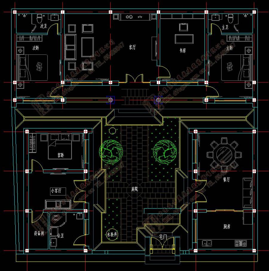 四合院平面图