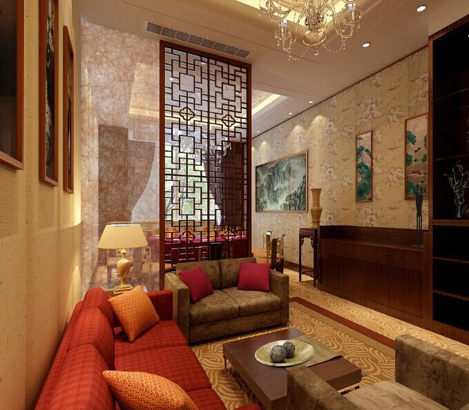 朴素清新的廊坊中式客厅装修