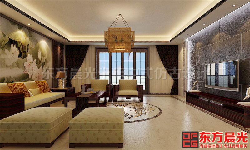 典雅新中式风格别墅设计效果图