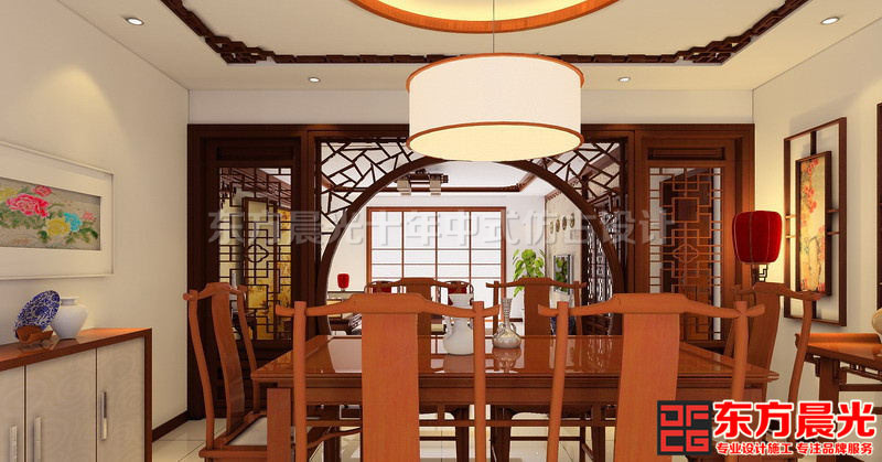 简约中式别墅装修设计