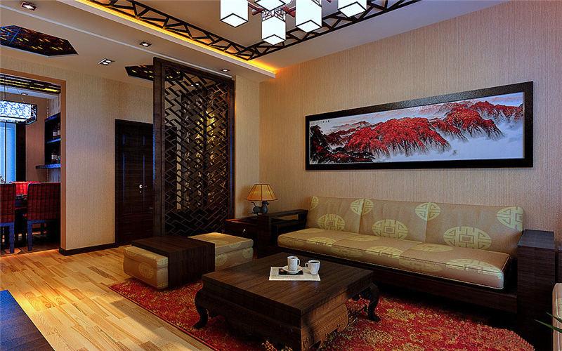中式风格高雅大气别墅装修设计