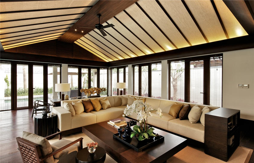 格调高雅现代中式别墅装修设计