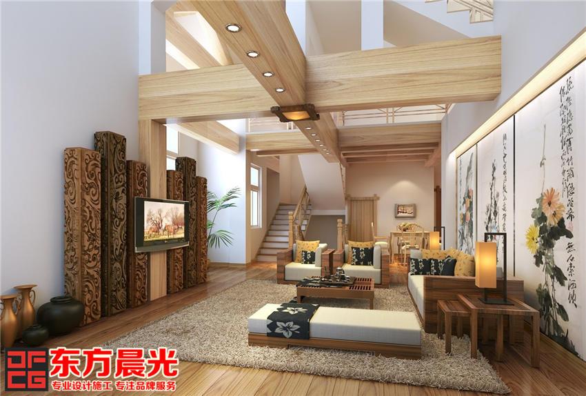 独栋别墅装修设计中式风格