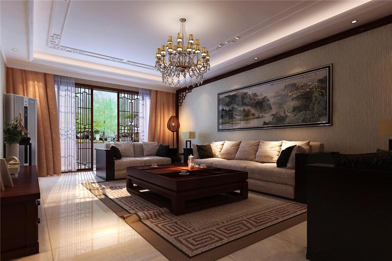 恬淡闲适现代中式别墅装修设计