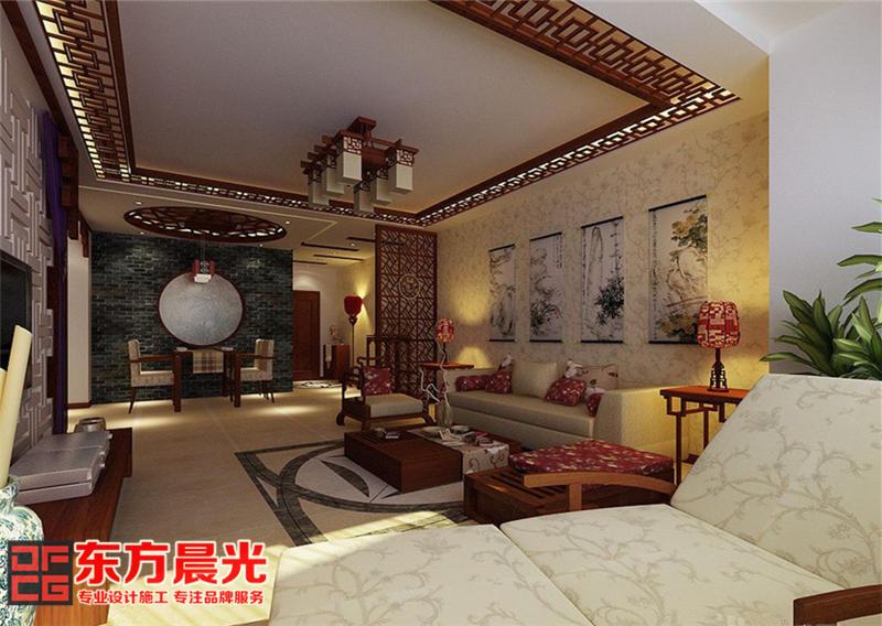 简约中式农村别墅装修室内设计
