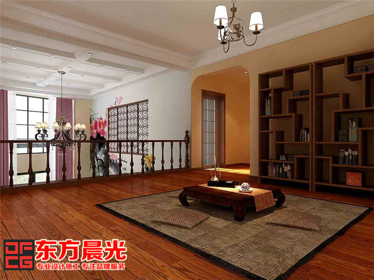 中式别墅装修设计墨香浓