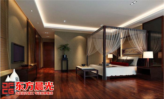 独栋别墅装修设计中式卧室