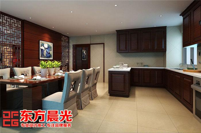独栋别墅装修设计中式餐厨