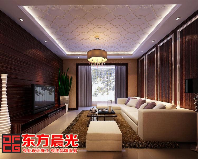 现代简约风格别墅装修设计_客厅