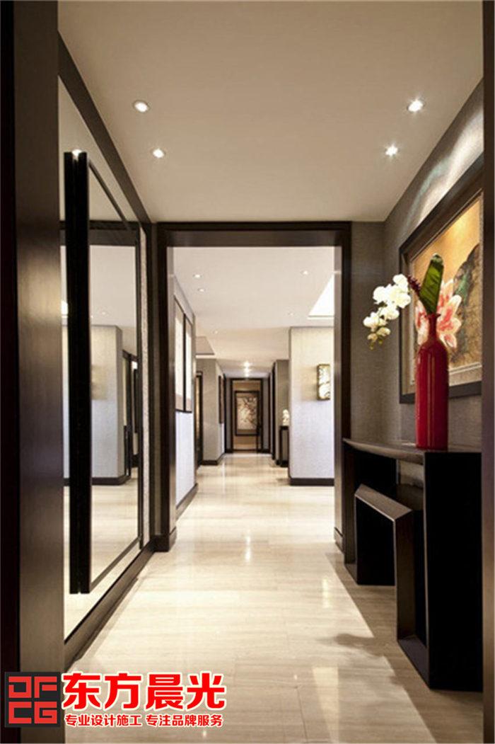 现代风格别墅中式装修设计_过道