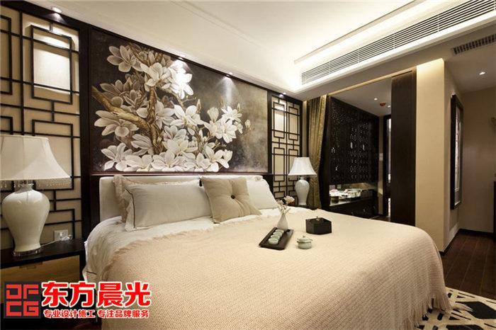 现代风格别墅中式装修设计_卧室