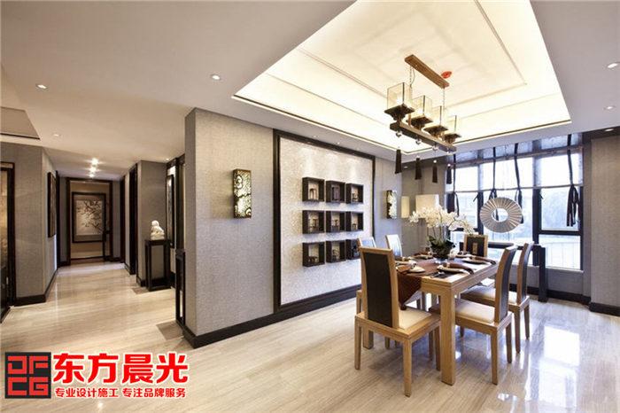 现代风格别墅中式装修设计_餐厅