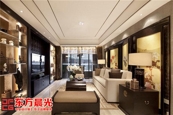 现代风格别墅中式装修设计_客厅