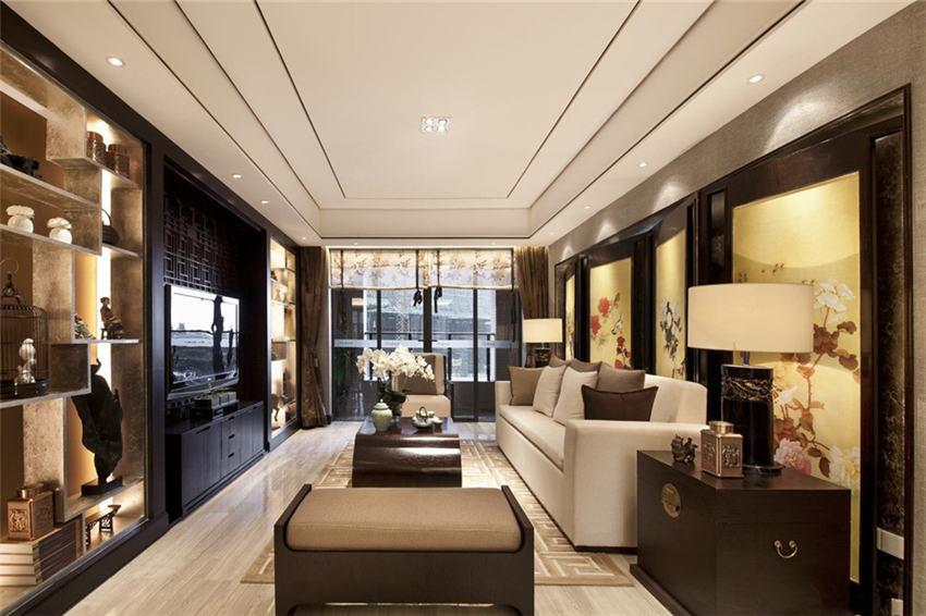 现代风格别墅中式装修设计