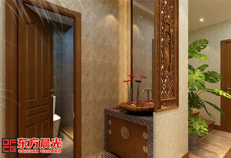 中式别墅装修设计——卫生间