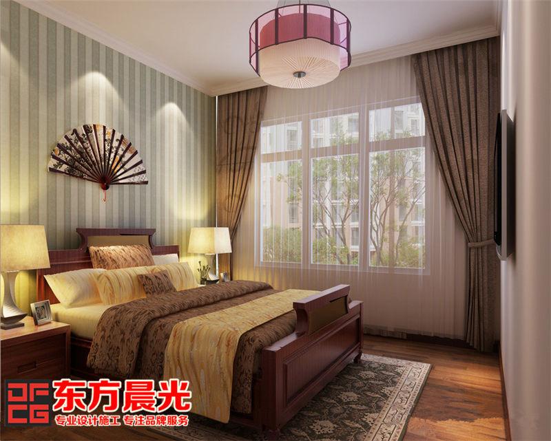 中式别墅装修设计——卧室