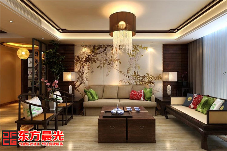 古典中式别墅装修设计-客厅