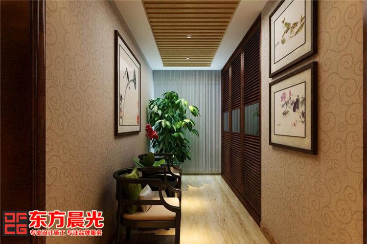 古典中式别墅装修设计-过道