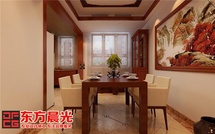 新中式风格别墅装修设计-餐厅