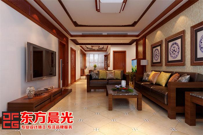 新中式风格别墅装修设计-客厅