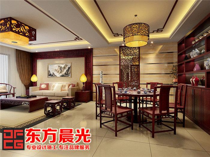 家装中式装修设计倍显温文儒雅-餐厅