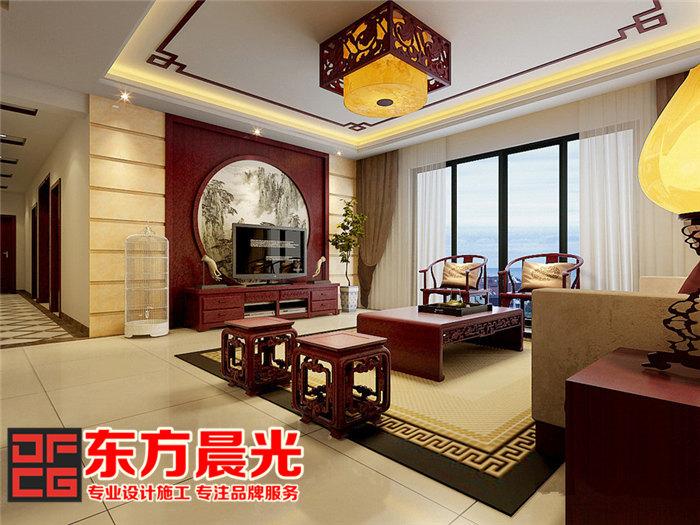 家装中式装修设计倍显温文儒雅-客厅