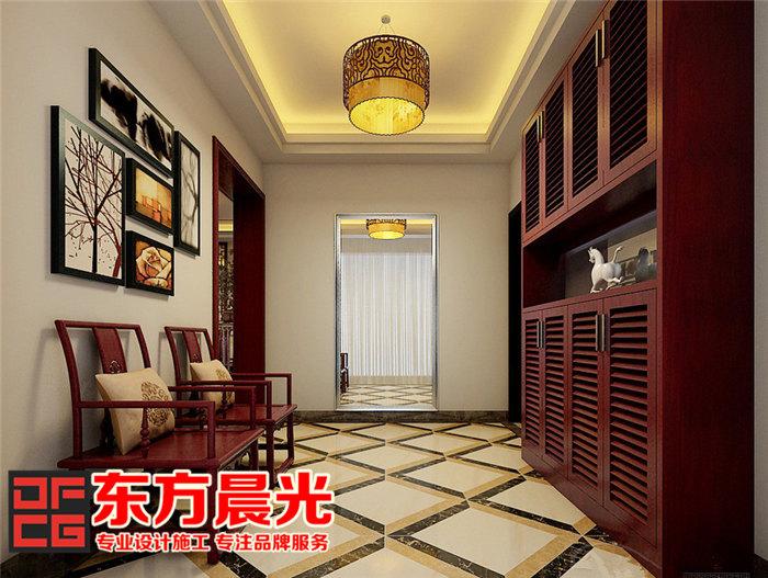 家装中式装修设计倍显温文儒雅-过道