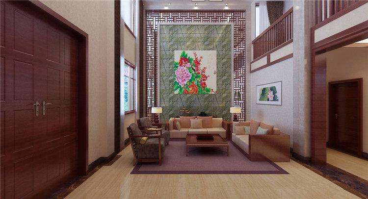 独栋别墅室内装修设计中式风格