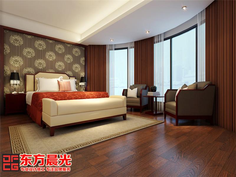 高贵典雅中式风格别墅装修设计-卧室