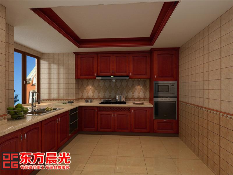高贵典雅中式风格别墅装修设计-厨房