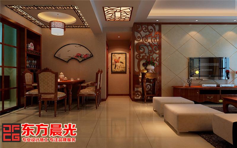 中式风格高端沉稳别墅装修设计-餐厅