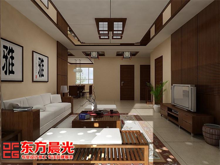 新中式别墅装修设计-客厅