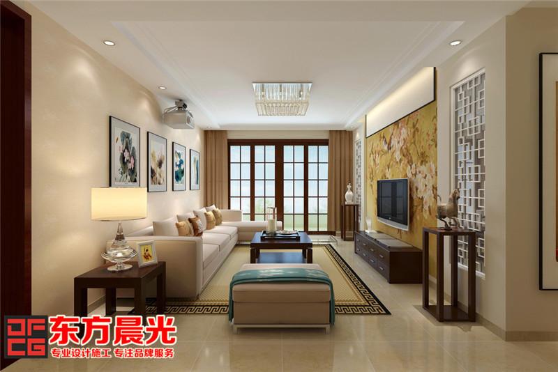 中式风格别墅装修设计清新舒适-客厅