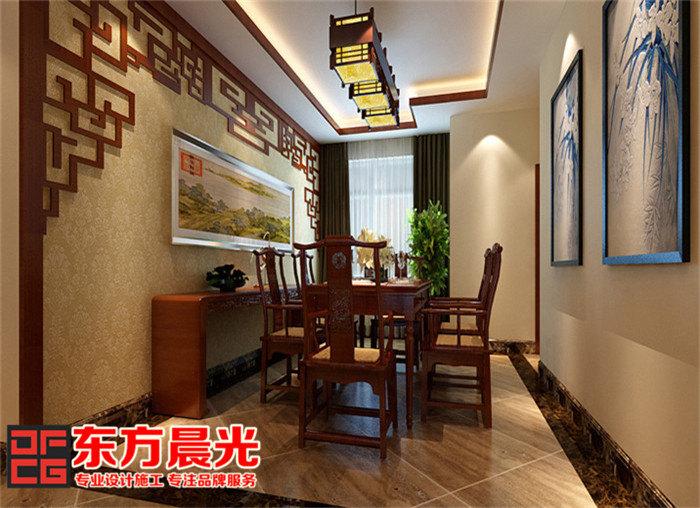 别墅中式装修效果图展示中国风-中式餐厅