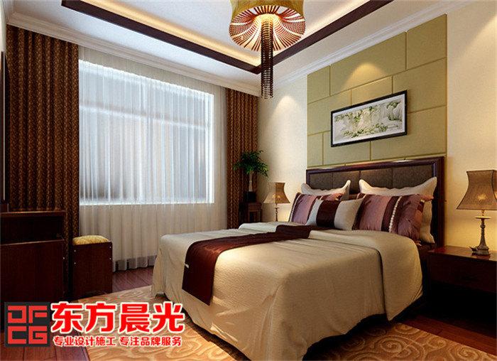 别墅中式装修效果图展示中国风-中式卧室