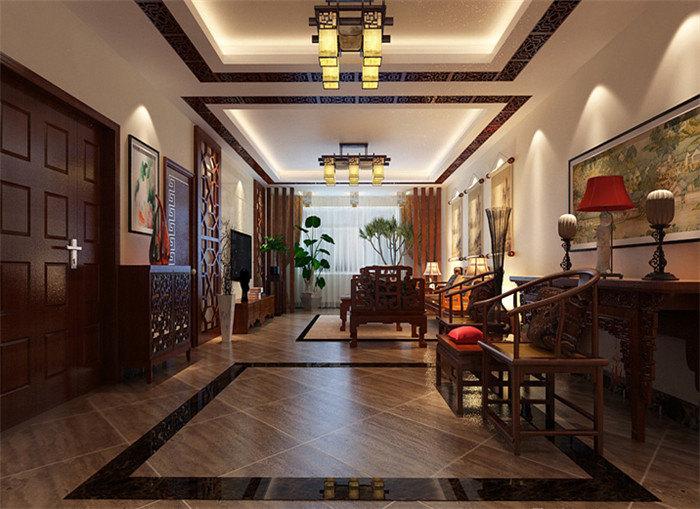 别墅中式装修效果图展示中国风