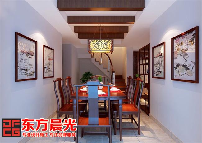 别墅装修设计之中式餐厅设计
